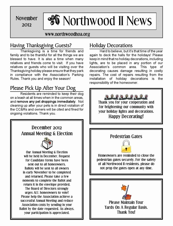 Homeowners association Newsletter Template Awesome 81 Best Free Templates Images On Pinterest