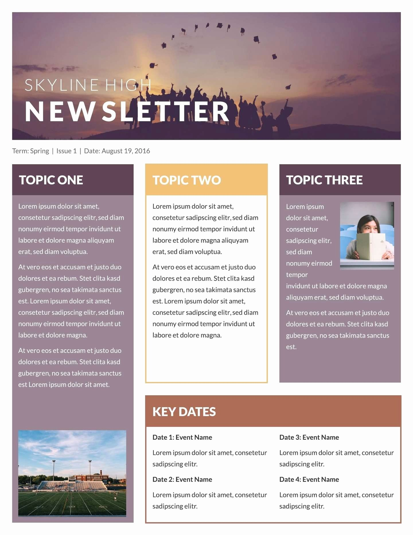 Homeowners association Newsletter Template Awesome Free Newsletter Templates Beepmunk