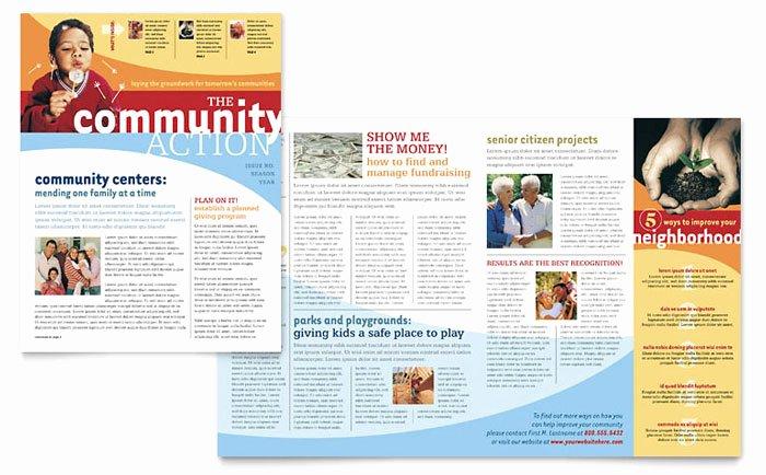 Homeowners association Newsletter Template Beautiful Munity Non Profit Newsletter Template Design
