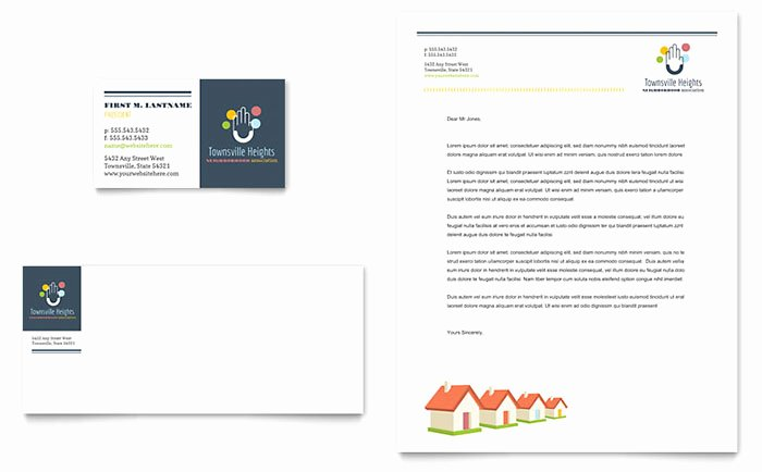 Homeowners association Newsletter Template Inspirational Homeowners association Business Card & Letterhead Template