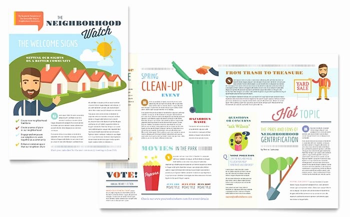 Homeowners association Newsletter Template Inspirational Homeowners association Newsletter Template Word & Publisher