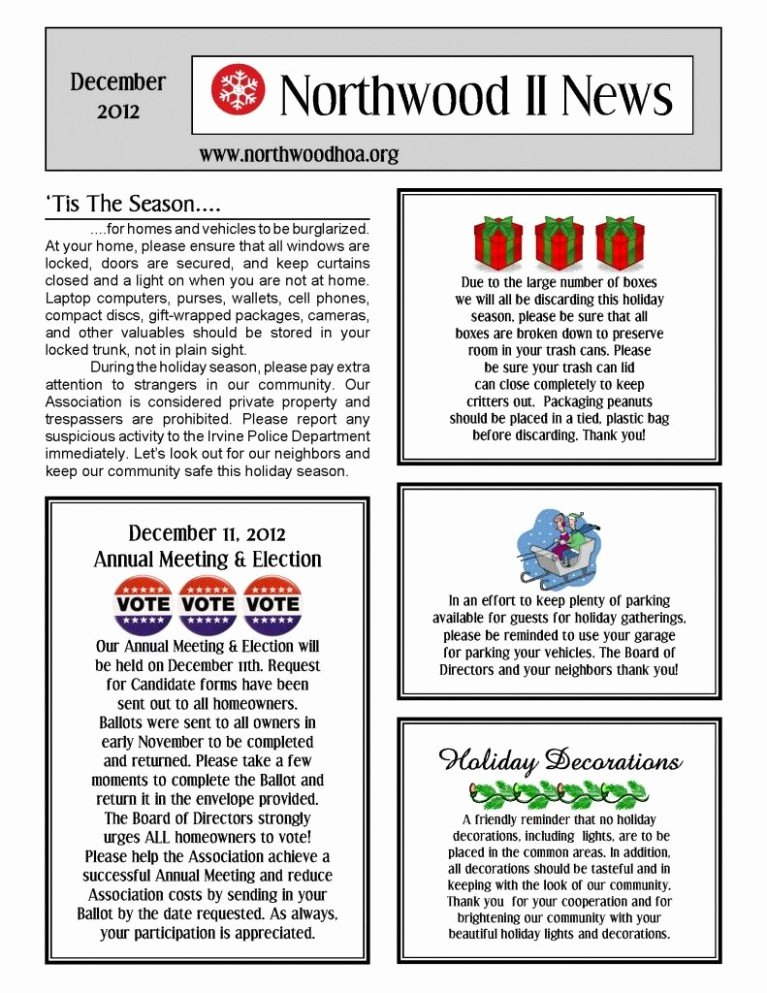 Homeowners association Newsletter Template New 100 Holiday Closing Signs Templates Design Portfolio