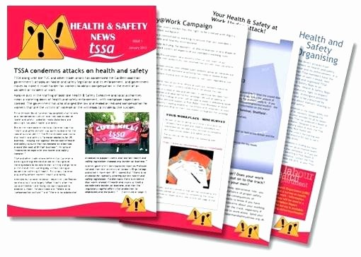 Homeowners association Newsletter Template New Health and Safety Newsletter Template Homeowners