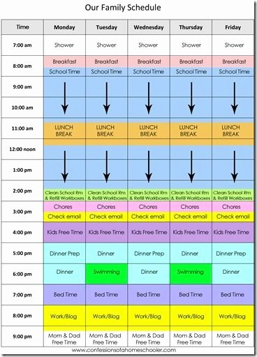 Homeschool Daily Schedule Template Beautiful High School Homeschool Schedule Template Homeschool