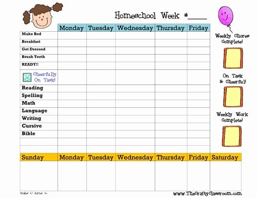Homeschool Daily Schedule Template Lovely Our Daily Schedule