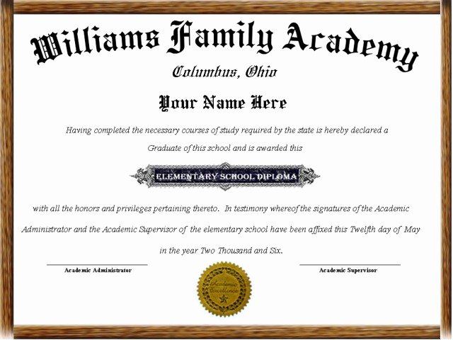 Homeschool Diploma Template Free Beautiful Printable Homeschool Diploma Template to Pin On