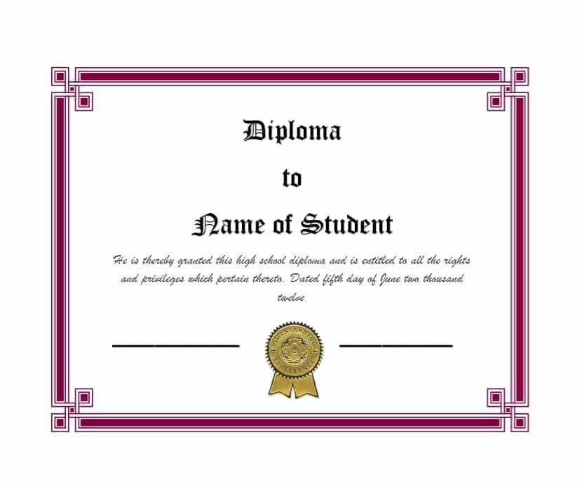 Homeschool Diploma Template Free Best Of 30 Real & Fake Diploma Templates High School College