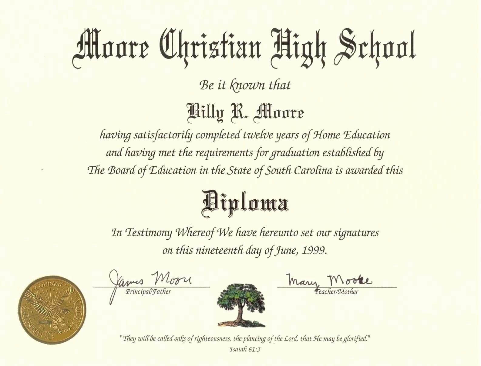 Homeschool Diploma Template Free Best Of Awesome Free High School Diploma Template with Seal Pdf