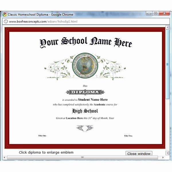 Homeschool Diploma Template Free Best Of Find Great Diploma Printing software to Help You Print