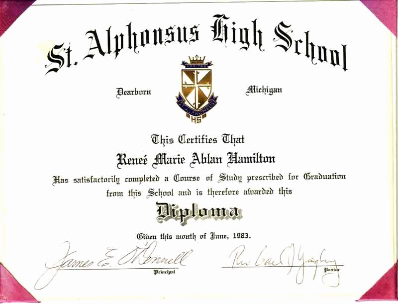 Homeschool Diploma Template Free Inspirational High School Diploma Template