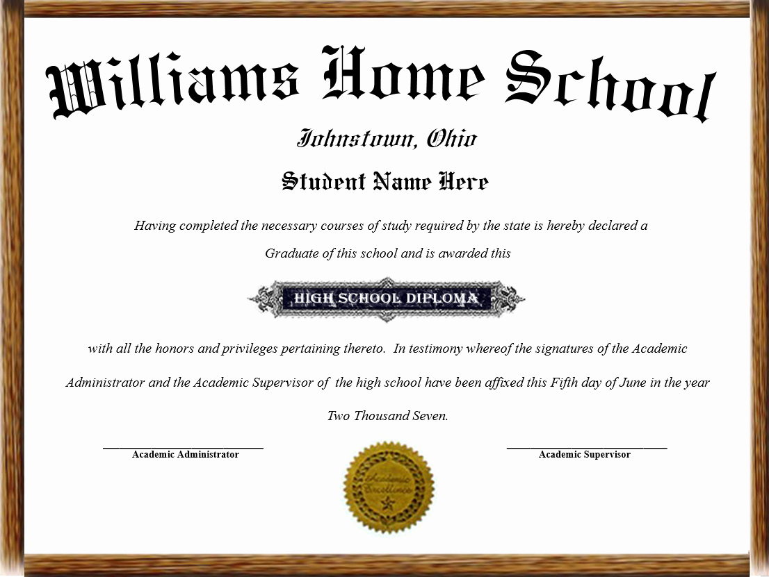 Homeschool Diploma Template Free Lovely High School Diploma for Home School Best Photos Of High