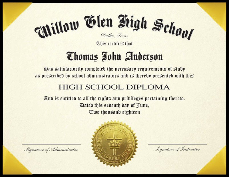 "Homeschool Diploma Template Free Unique Standard High School Diploma for Homeschool with 6"" X 8"