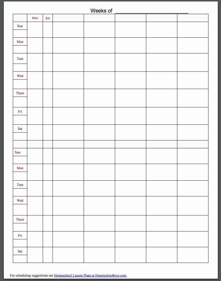 Homeschool Lesson Plan Template Best Of Lesson Plan Template for Homeschool – Platte Sunga Zette