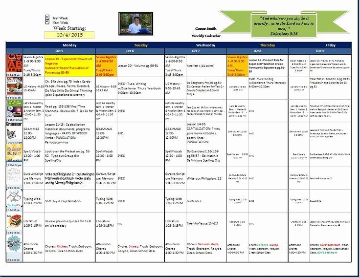 Homeschool Lesson Plan Template Elegant Excel Homeschool Planner Template Homeschool Lesson Plan