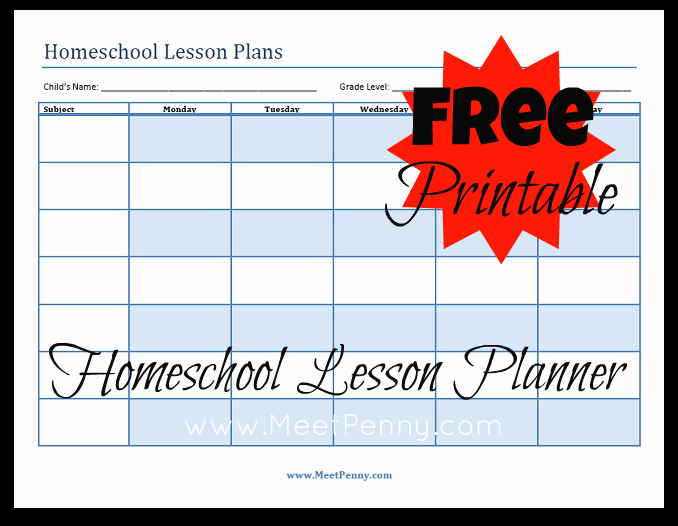 Homeschool Lesson Plan Template Lovely Blueprints organizing Your Homeschool Lesson Plans Meet
