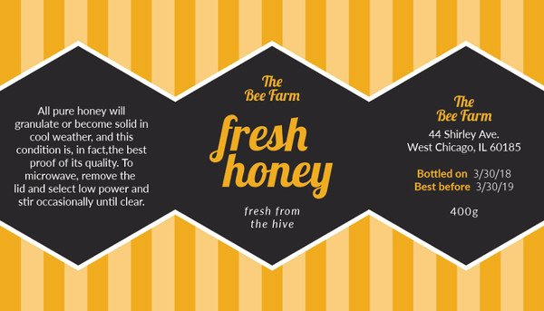 Honey Jar Labels Template Beautiful 8 Honey Jar Label Templates Psd Word Pdf