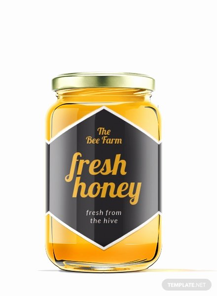 Honey Jar Labels Template Inspirational Free Honey Jar Label Template Download 118 Labels In Psd