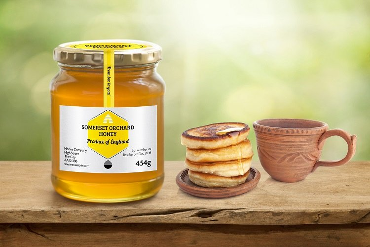 Honey Jar Labels Template Luxury Honey Jar Labels Curved Honey B Design
