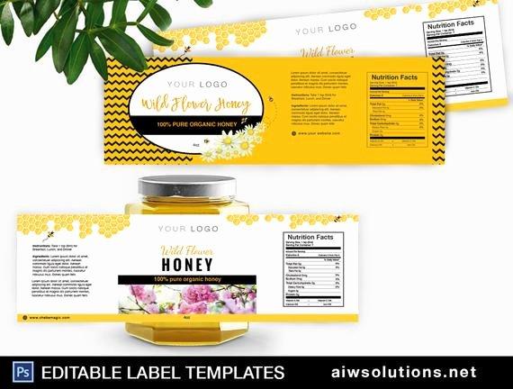 honey label template honey packaging