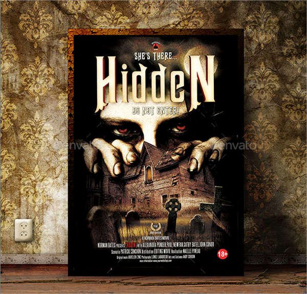 Horror Movie Poster Template Awesome 9 Best Movie Poster Template Free Psd Vector Eps