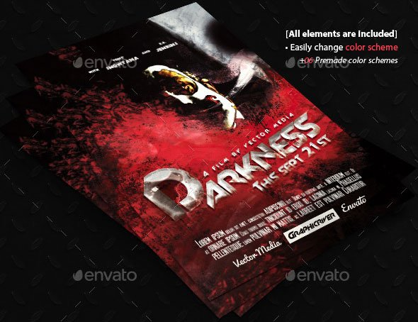 Horror Movie Poster Template Beautiful 20 Cool Horror Poster Templates – Design Freebies