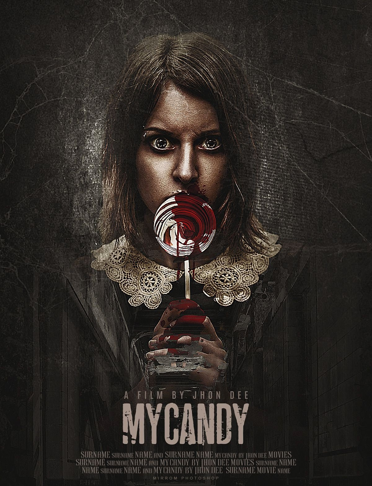 Horror Movie Poster Template Beautiful Create A My Candy Horror Movie Poster Design In Shop