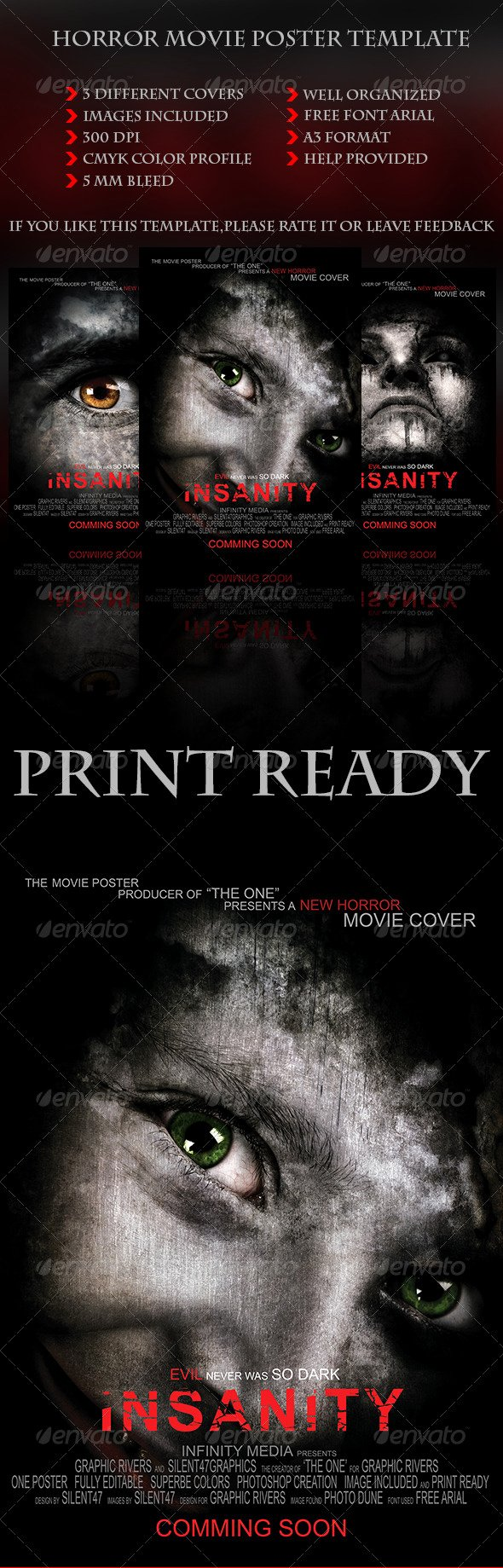 Horror Movie Poster Template Inspirational Horror Movie Poster Template by Silentgraphics