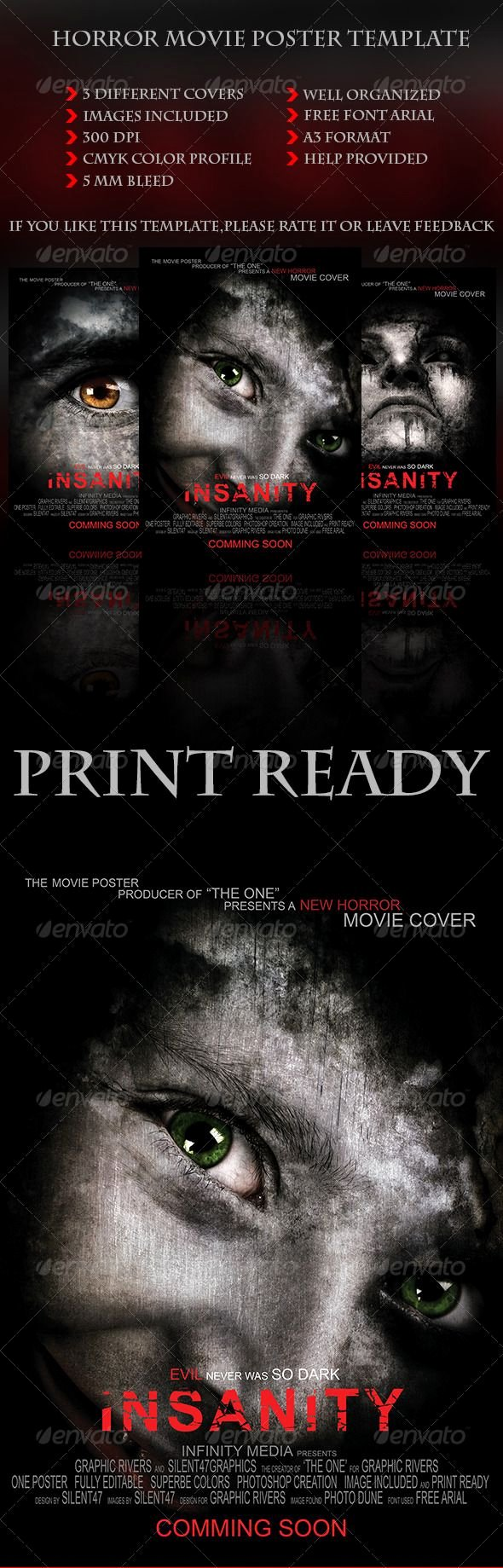 Horror Movie Poster Template Lovely Pin by Bashooka Web & Graphic Design On Random Design
