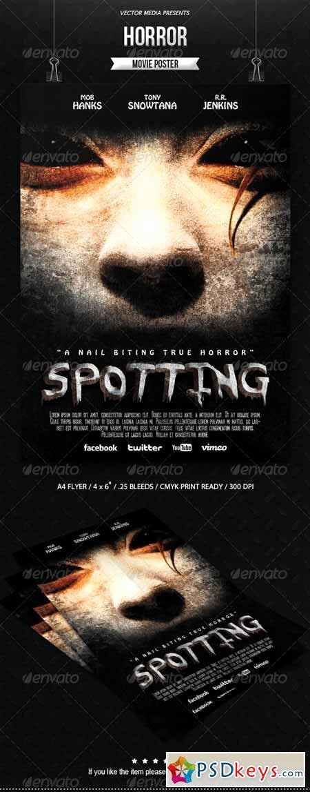 Horror Movie Poster Template Luxury Horror Movie Poster Free Download Shop