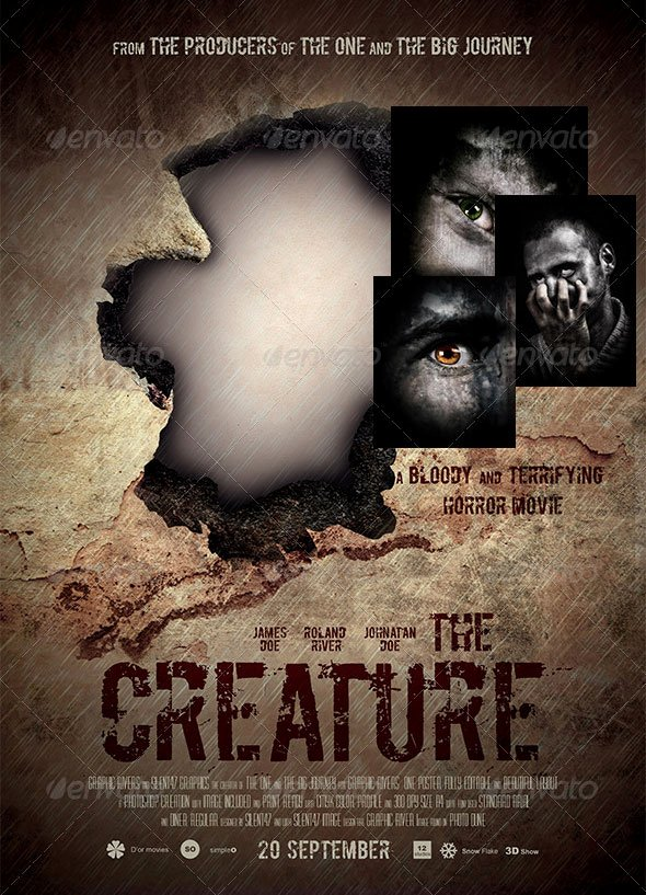 Horror Movie Poster Template Unique 17 Great Movies Poster Psds – Desiznworld