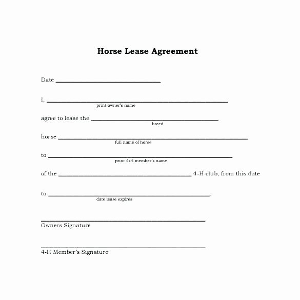 Horse Boarding Agreement Template Inspirational Horse Lease Agreements