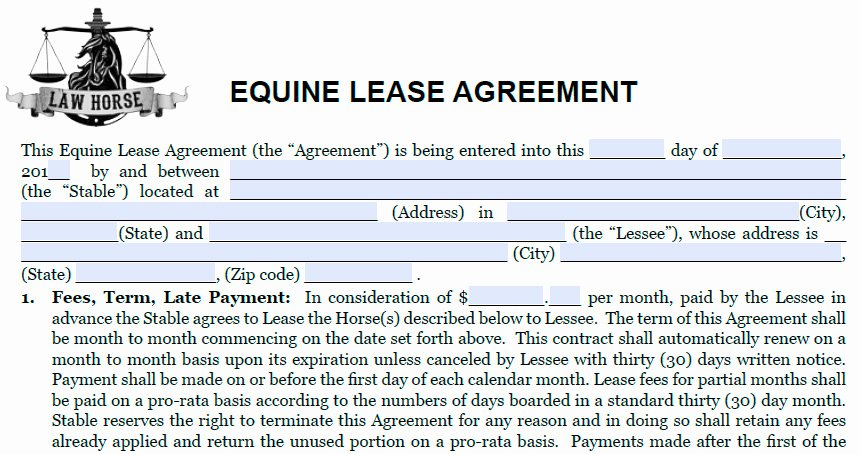 Horse Lease Agreements Template Lovely Grazing Agreement Related Keywords Grazing Agreement