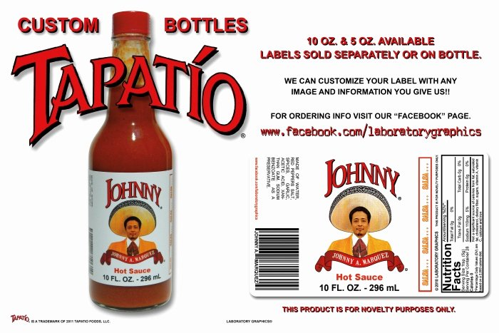 Hot Sauce Label Template Inspirational Custom Tapatio Bottles by Johnny Mar at Coroflot