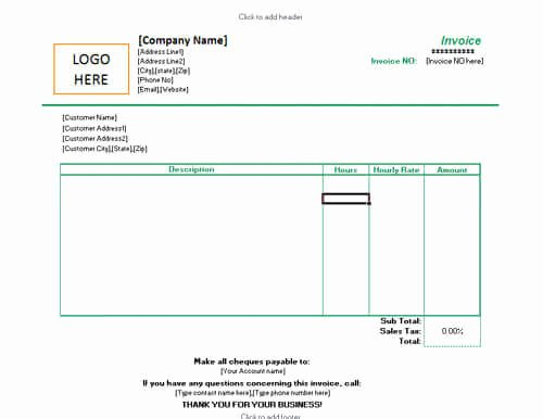 Hourly Invoice Template Excel Lovely 10 Free Freelance Invoice Templates [word Excel]