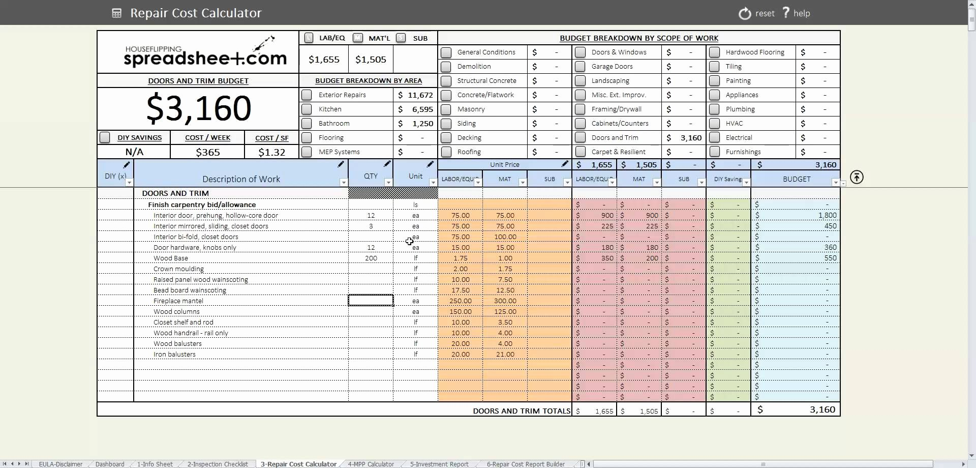 House Flipping Excel Template Inspirational House Flip Excel Spreadsheet for House Flipping