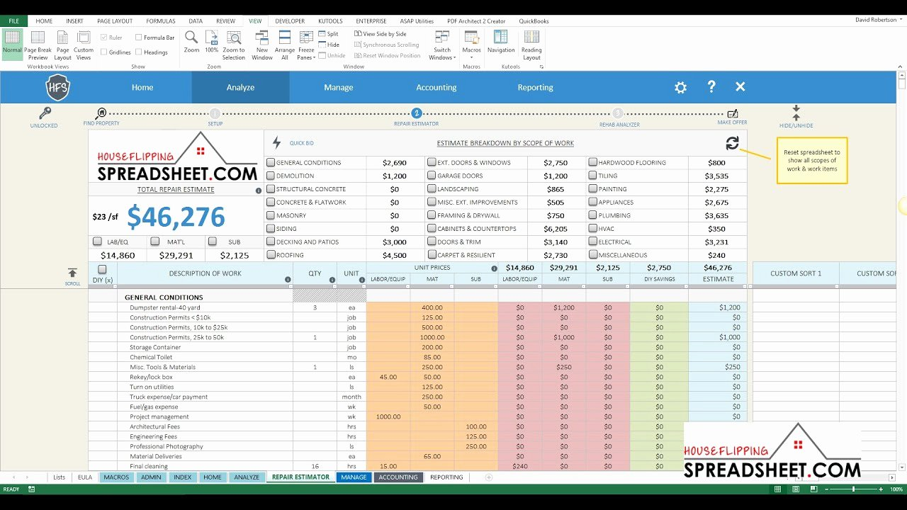 House Flipping Excel Template New House Flipping Cost Spreadsheet Google Spreadshee Free