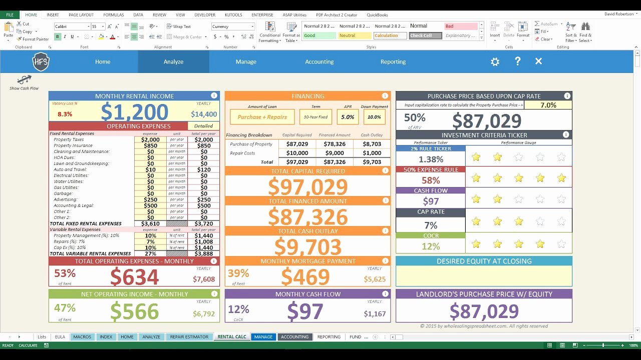 House Flipping Excel Template Unique House Flipping Spreadsheet 4z New Rental Dashboard