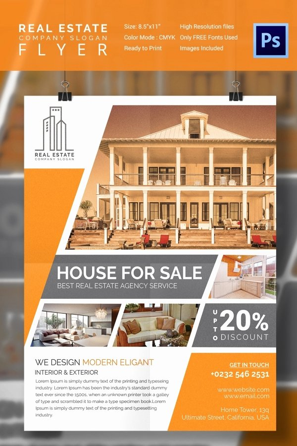 House for Sale Template Best Of 15 Stylish House for Sale Flyer Templates & Designs