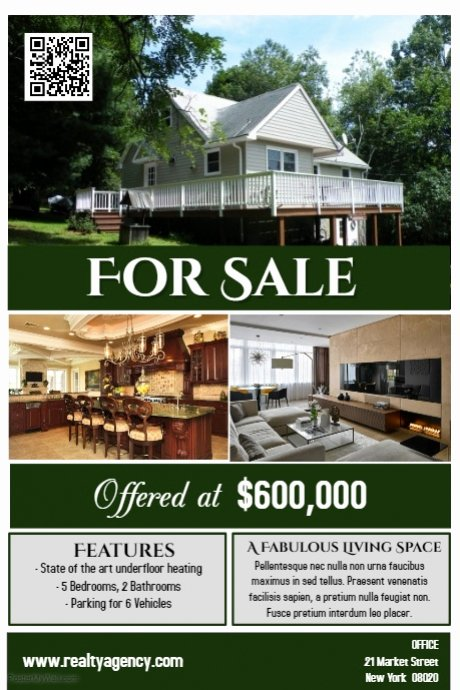 House for Sale Template Best Of House for Sale Flyer Poster Real Estate Template