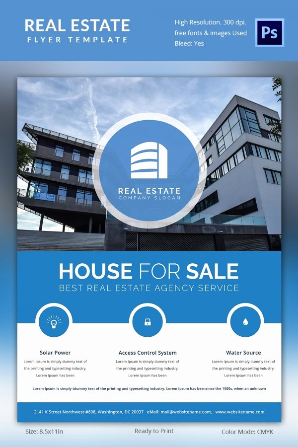 House for Sale Template Elegant Real Estate Flyer Template 35 Free Psd Ai Vector Eps