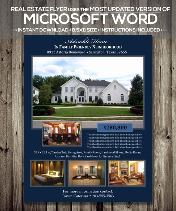 House for Sale Template Elegant Real Estate Flyer Template Microsoft Word by
