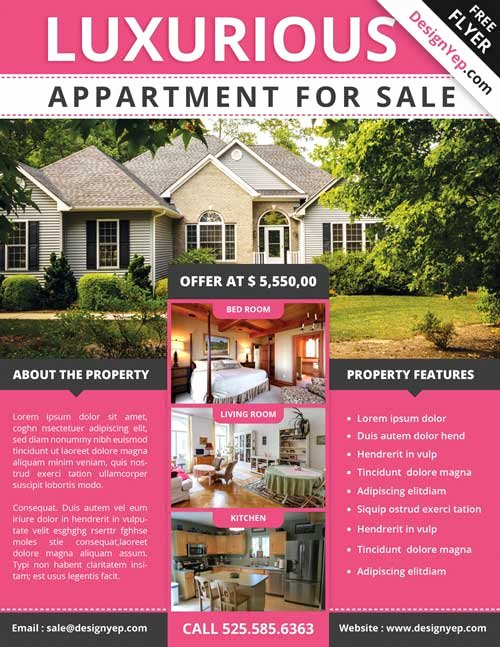 House for Sale Template Fresh Download Free Real Estate Flyer Psd Flyer Template