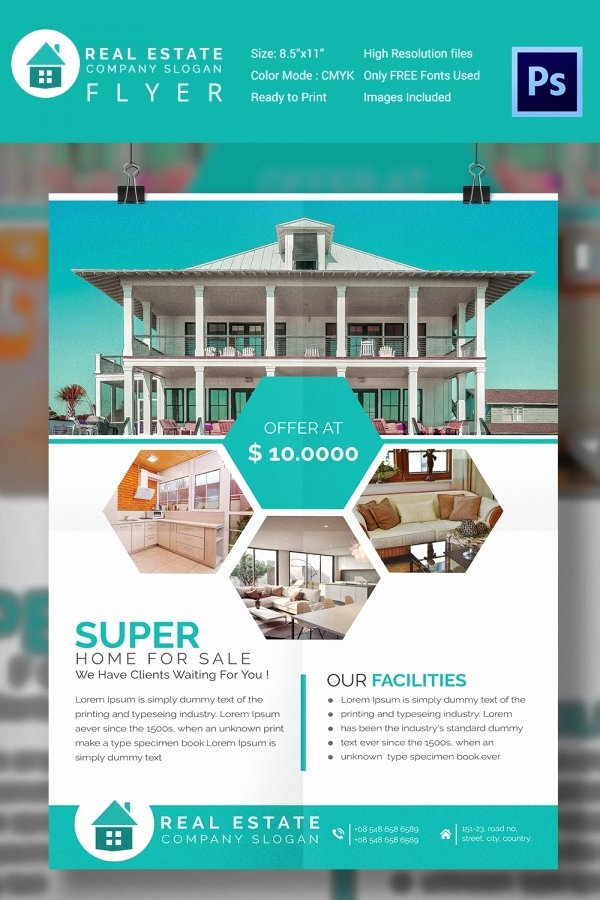 House for Sale Template New 15 Stylish House for Sale Flyer Templates & Designs