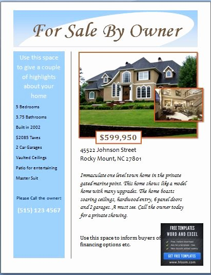 House for Sale Template New Sample Real Estate Poster Template