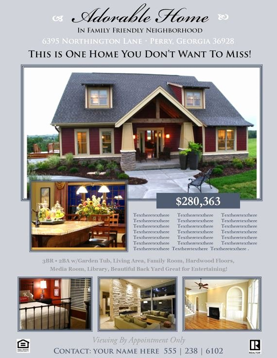 House for Sale Template Unique Real Estate Flyer Template Microsoft Publisher Template