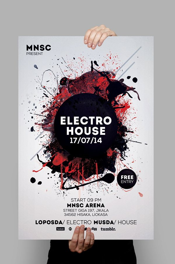 House Party Flyer Template Best Of Modern Party Flyers Templates Design