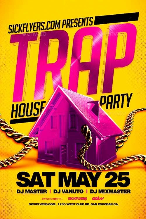 House Party Flyer Template Best Of Trap House Party Flyer Template