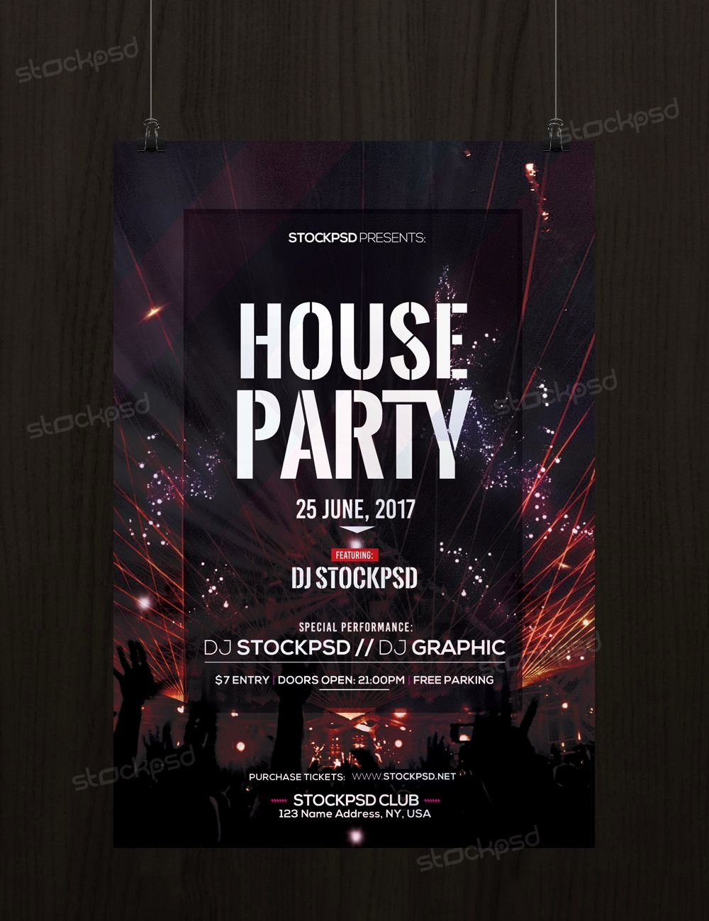 House Party Flyer Template Fresh House Party – Download Free Psd Flyer Template