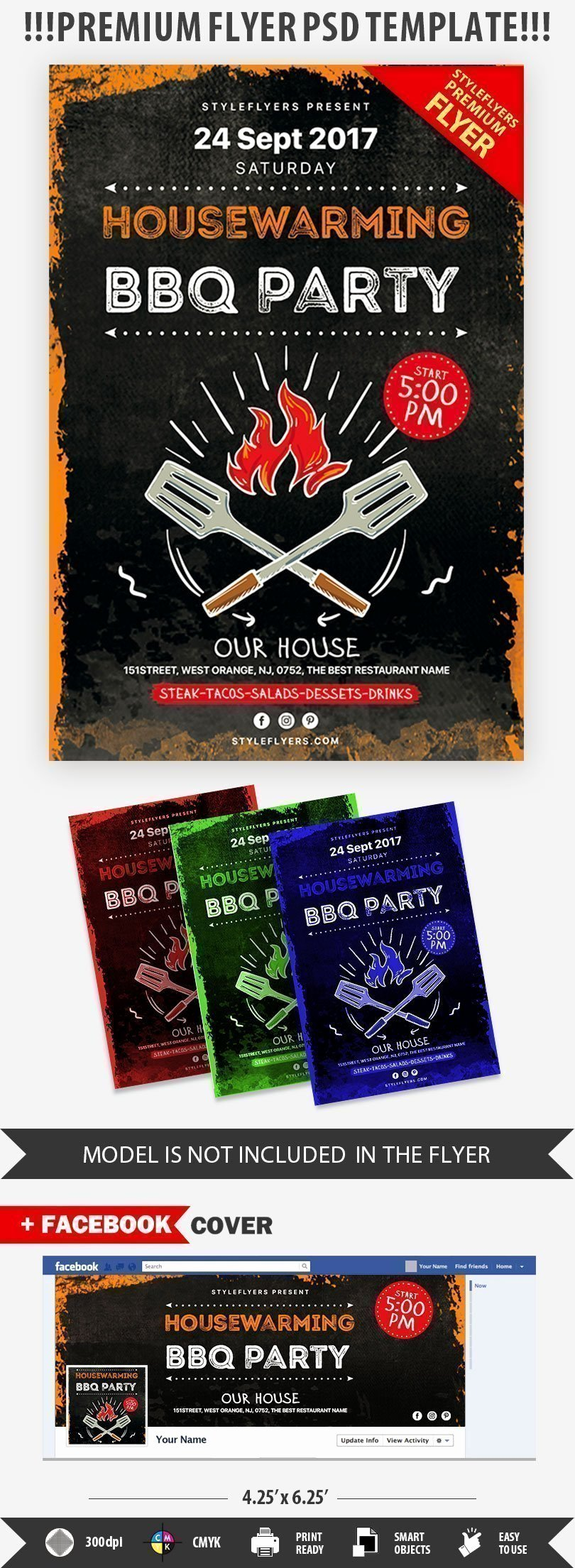 House Party Flyer Template Inspirational Housewarming Bbq Party Psd Flyer Template Styleflyers