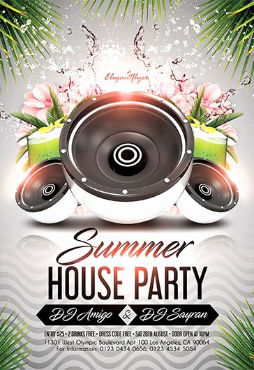 House Party Flyer Template New Free Psd Flyer Templates for Everyone